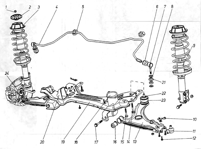 volkswagen golf 2 ремонт подвески