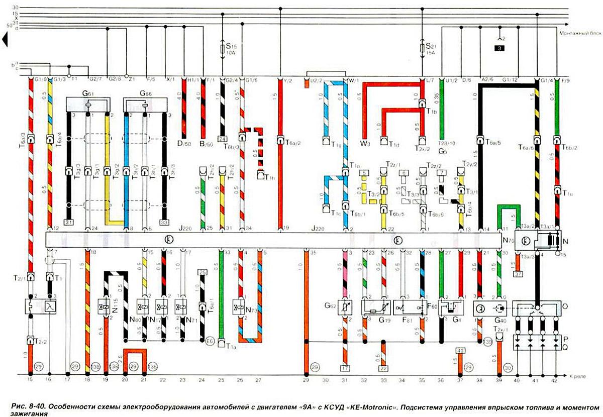 Vw passat схема электрооборудования 497