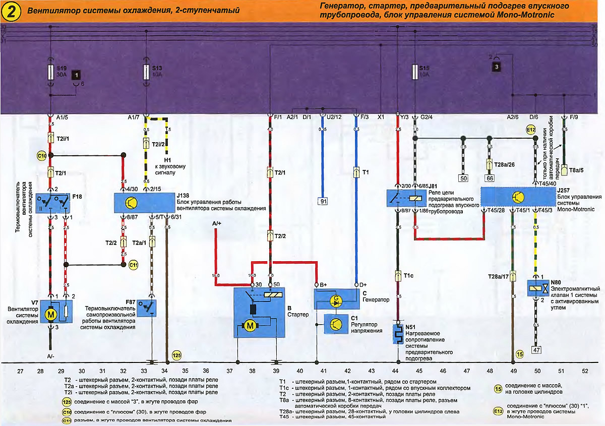 электро оборудование т4 схема