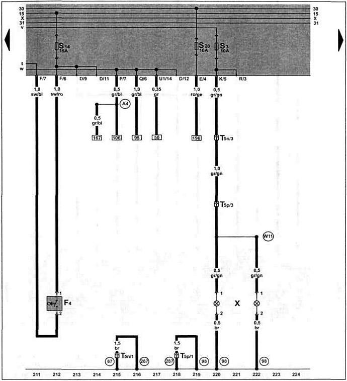 Электрическая схема фольксваген поло 3