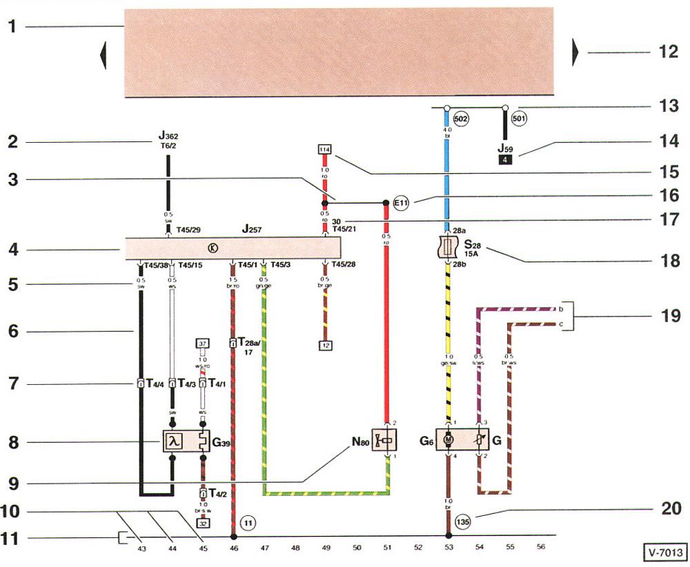 Электрические схема на фольксваген поло